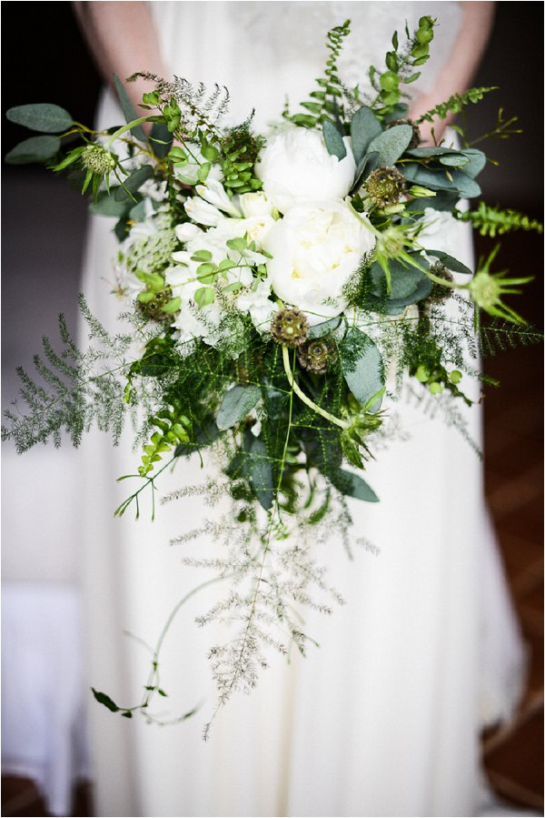 green white wedding bouquet