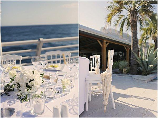 outdoor sunny wedding reception