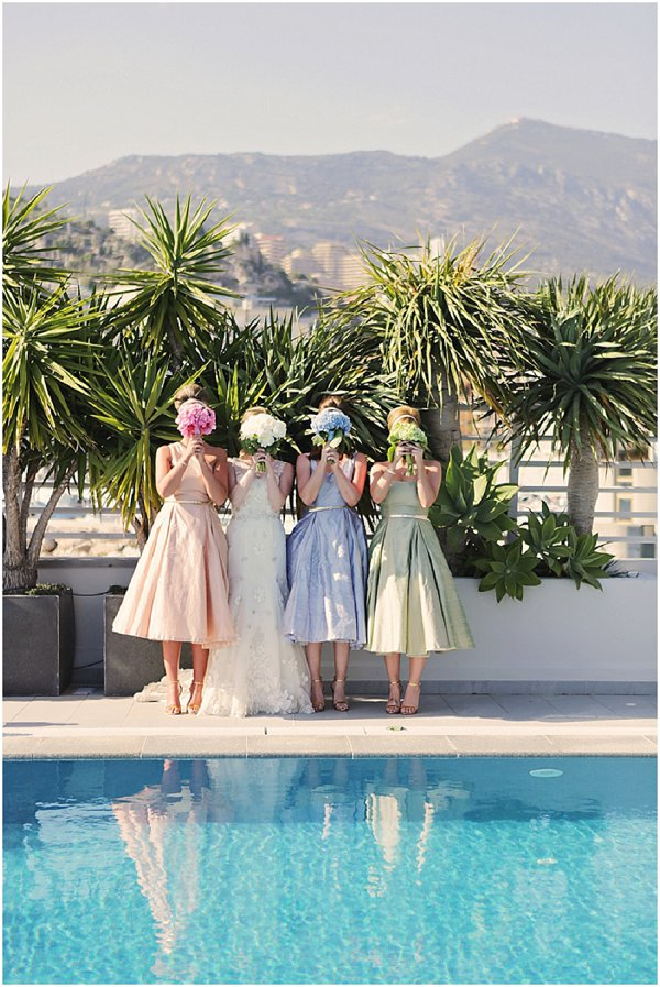 pastel bridemaid dresses