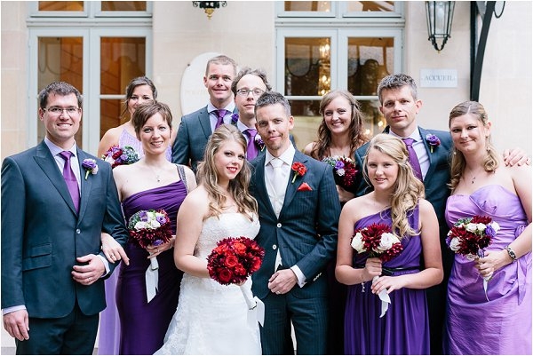 purple bridal party