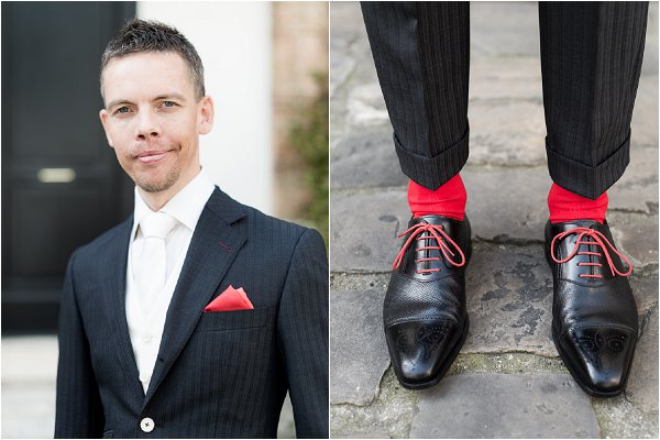 Red groom accessories