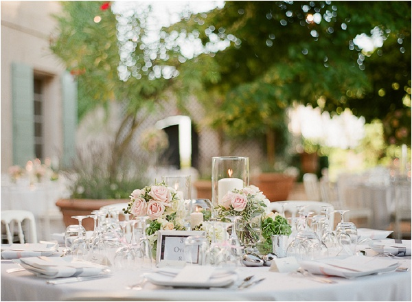 romantic outdoor wedding reception