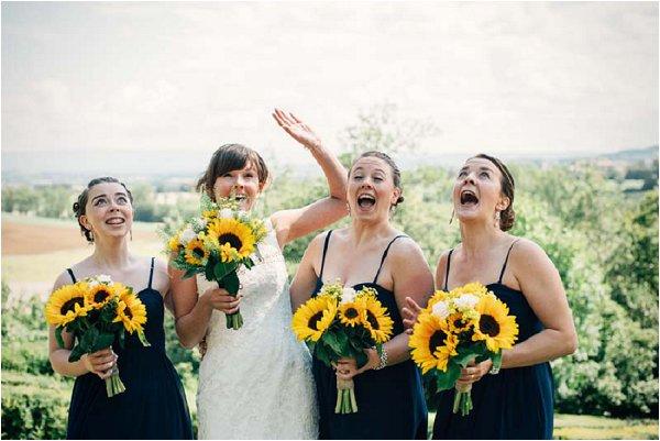 sunflower bridesmaid bouquets