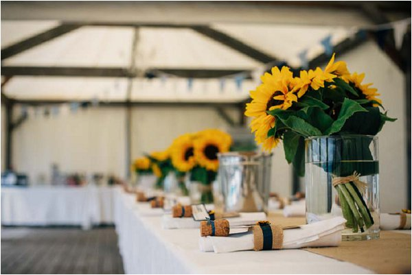 sunflower tablecentres