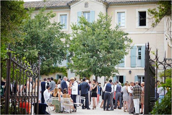 sunny outdoor wedding reception