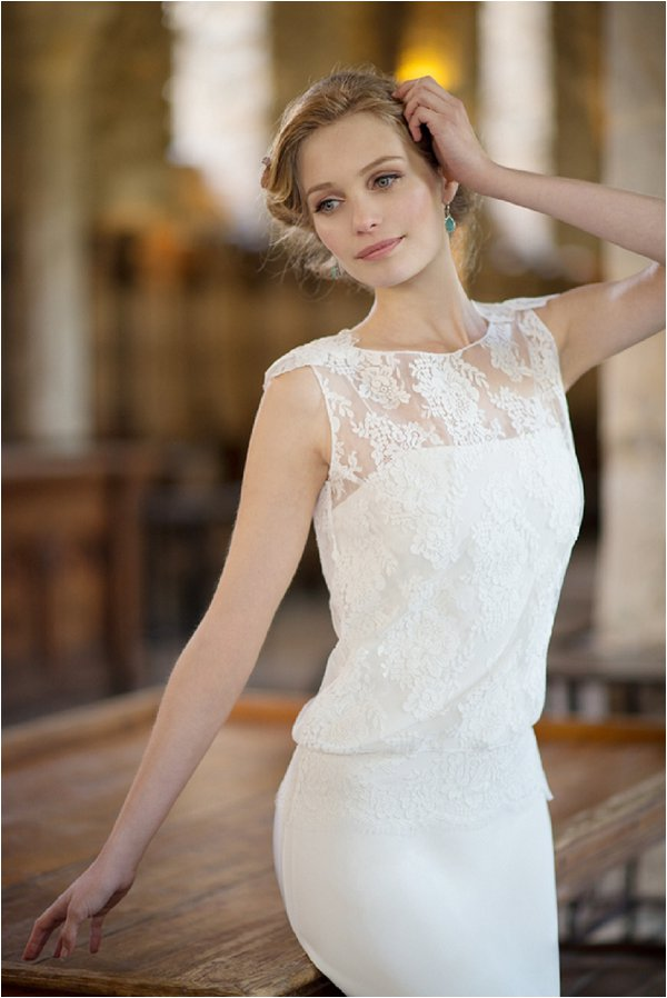 top over wedding dress