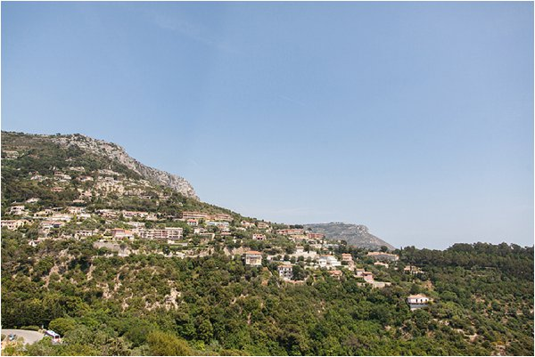 view of French Riviera mountains