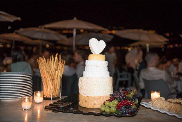 wedding cake of cheese