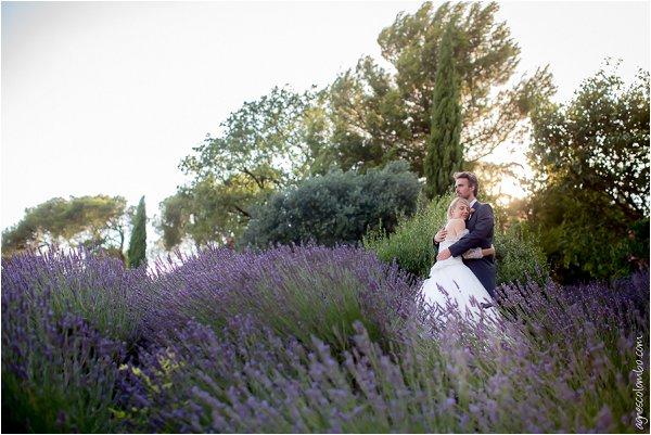 wedding in lavender fields