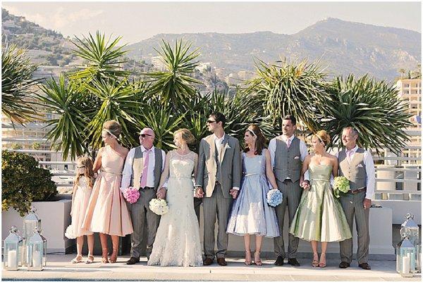 wedding in the sun