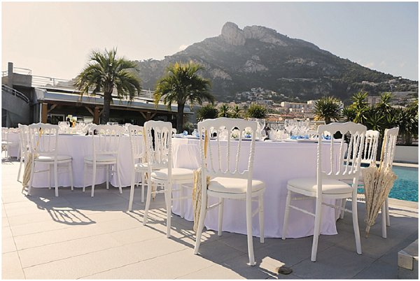 Poolside Wedding Reception Monaco Venue