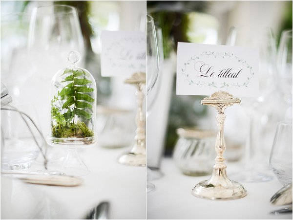 white green wedding decor