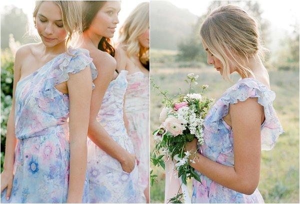 asymmetric bridesmaid dress