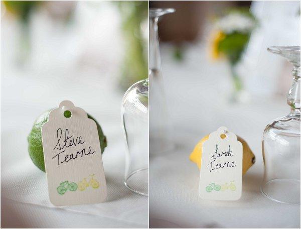 DIY wedding labels