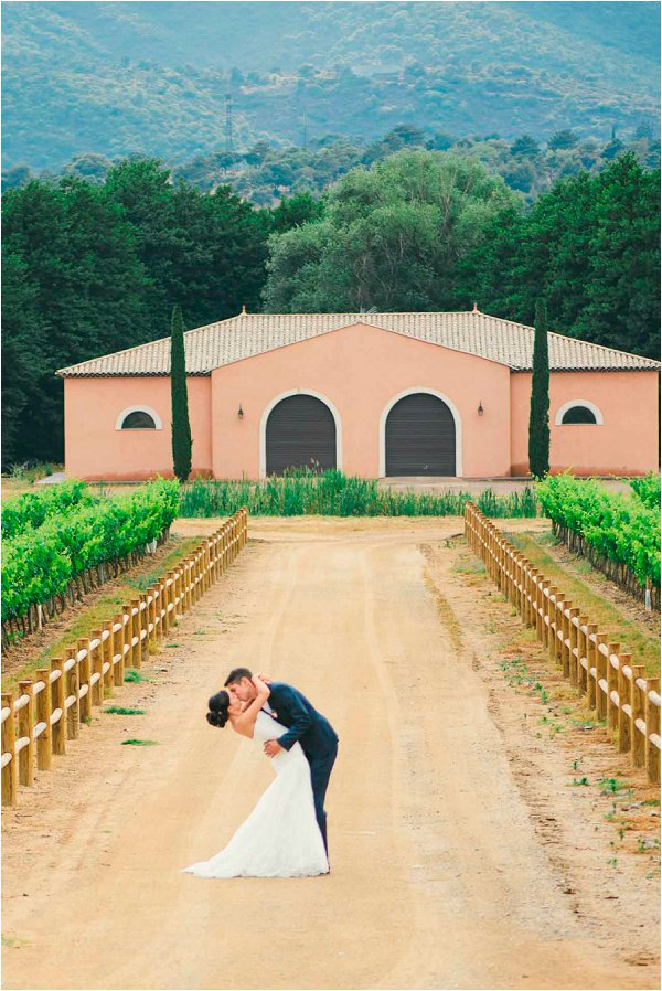 Vineyard wedding in Provence at Chateau Vaudois