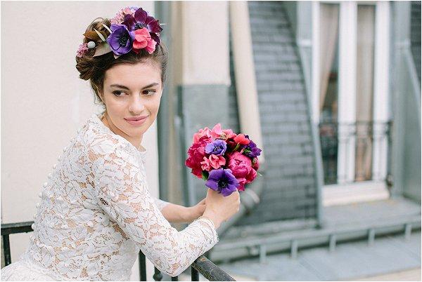 bold bridal flowers