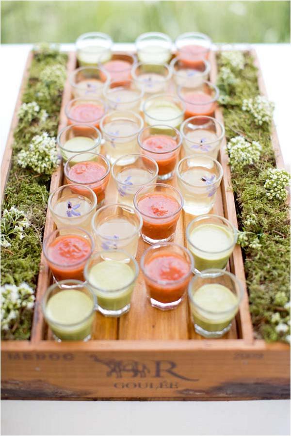 Beautiful wedding food display