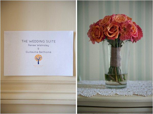 deep coral wedding flowers