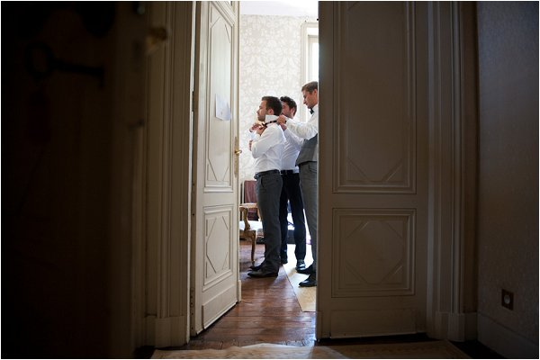 dressing the groom