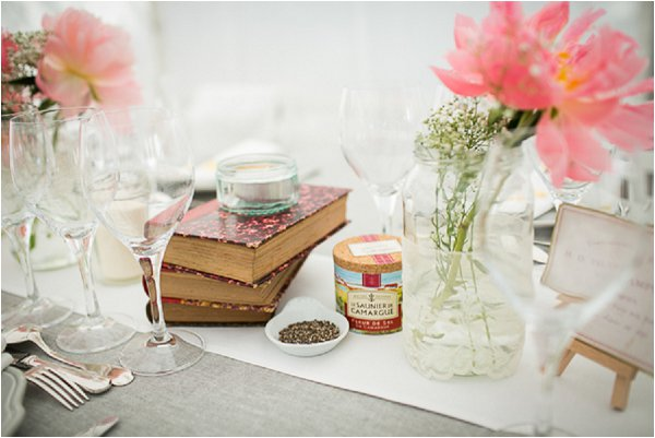 gray and pink wedding