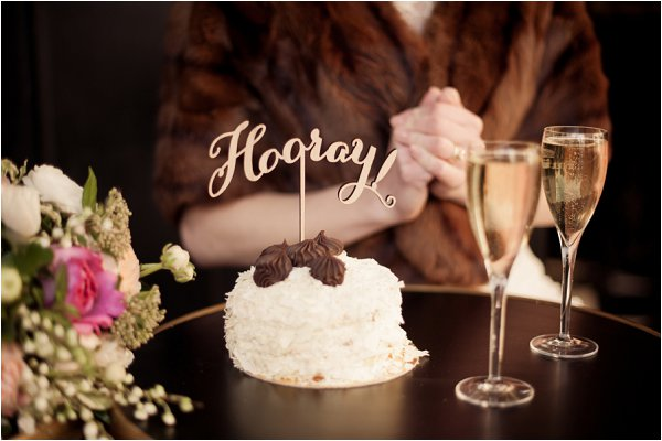 hooray wedding cake topper