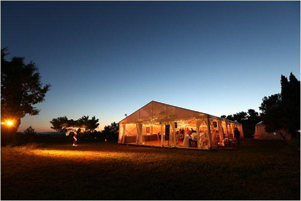 nightime marquee wedding
