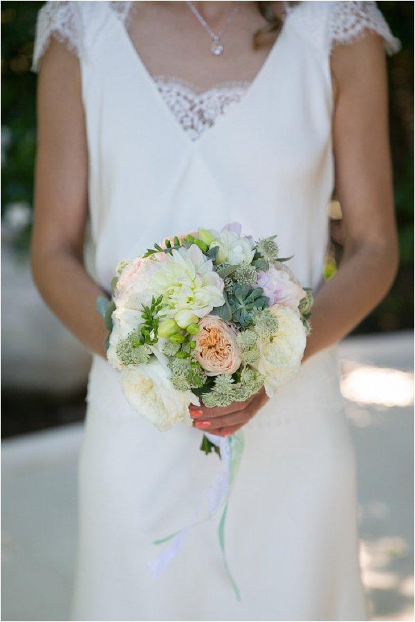 no fuss bridal bouquet