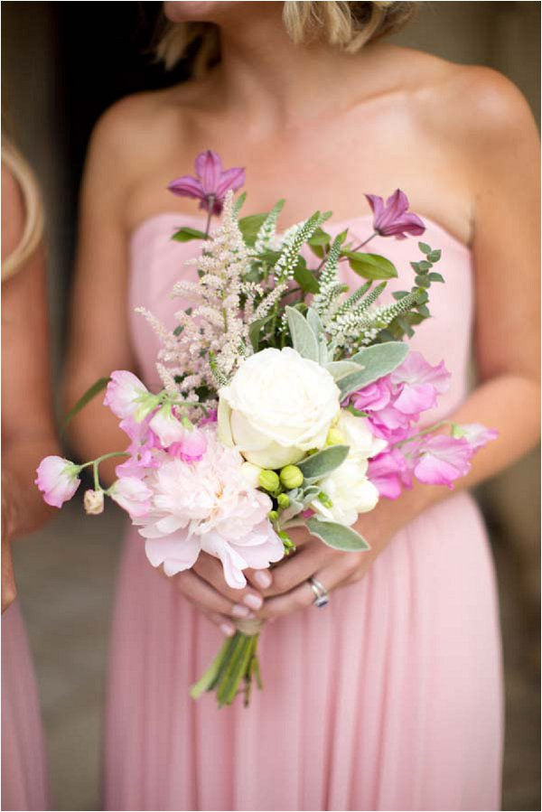 pink and white bridesmaids