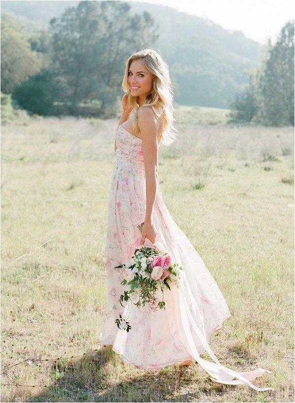 pretty floral wedding dress