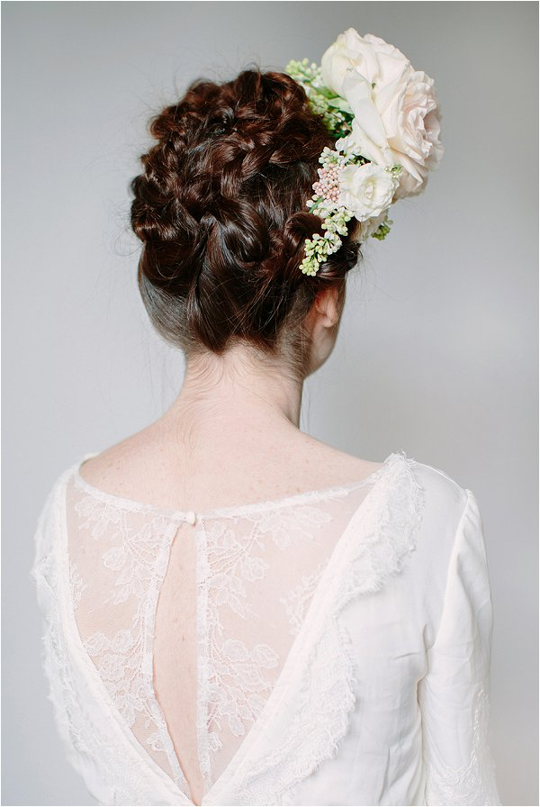 real flower hairpiece