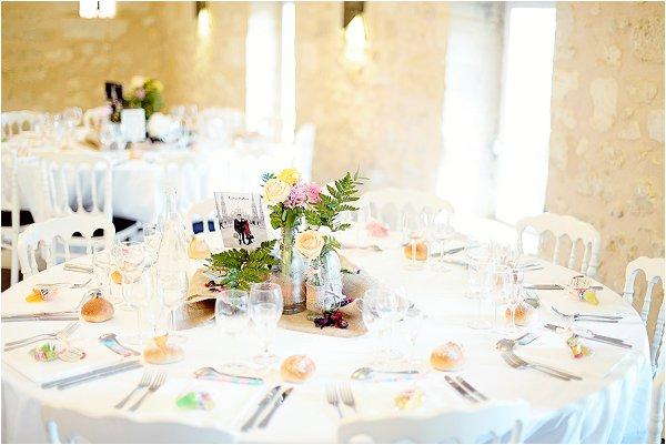 rustic flowers wedding table