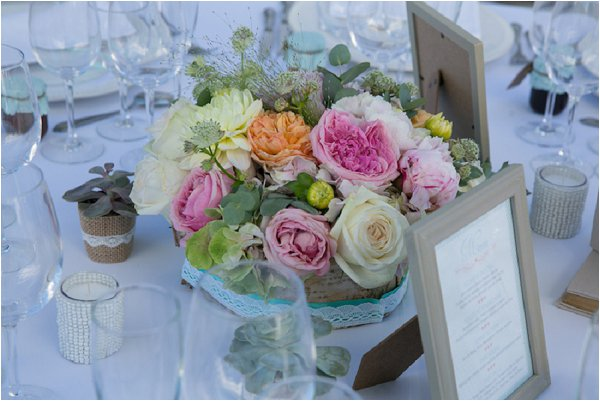 simple wedding table centre