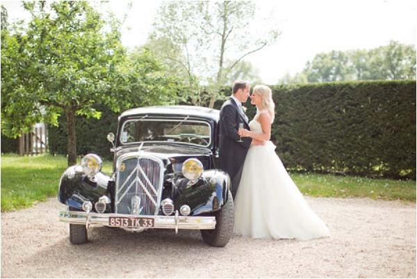 vintage wedding car france