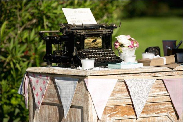 wedding vintage typewriter