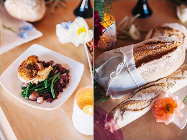 French inspired wedding food