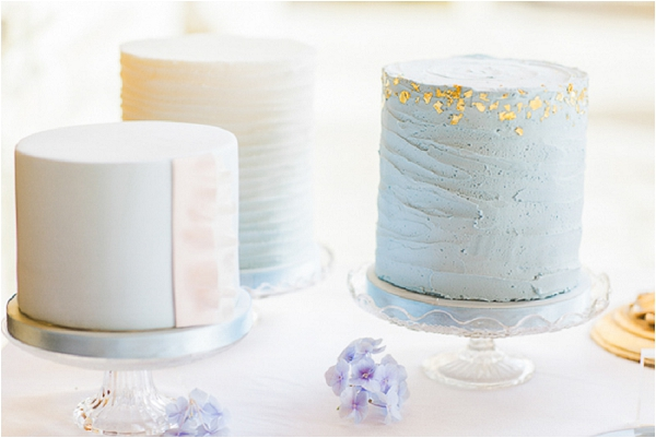 baby blue wedding cakes