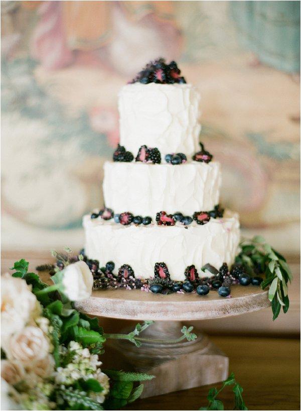 blackberry wedding cake
