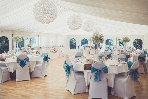 blue styled wedding marquee