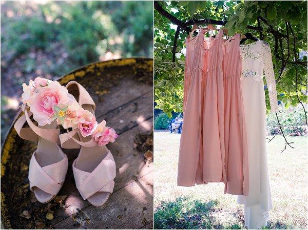 blush wedding accessories
