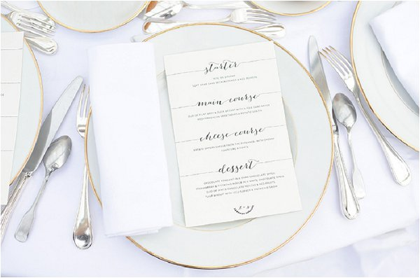 classic wedding setting