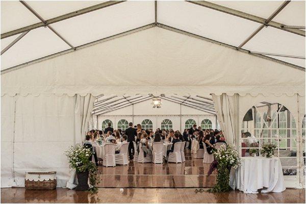 elegant marquee wedding