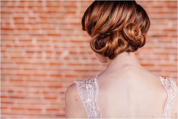 french inspired bridal hair style