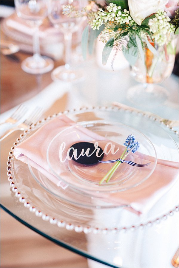laura wedding place setting