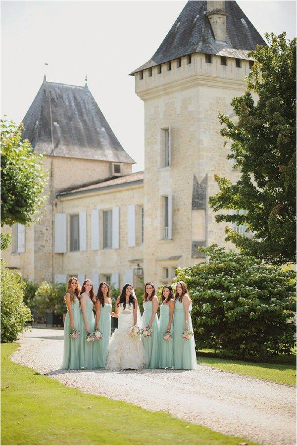 mint BHLDN bridesmaids dresses