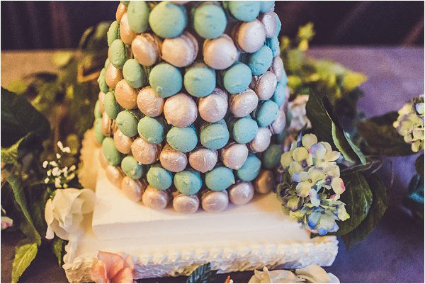 pastel macaron towers
