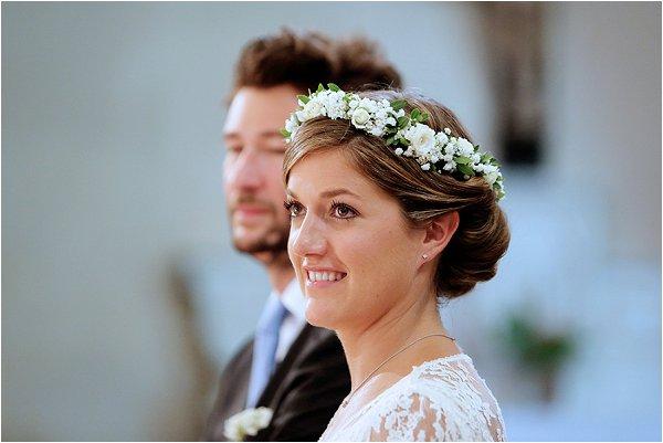 real flower bridal crown