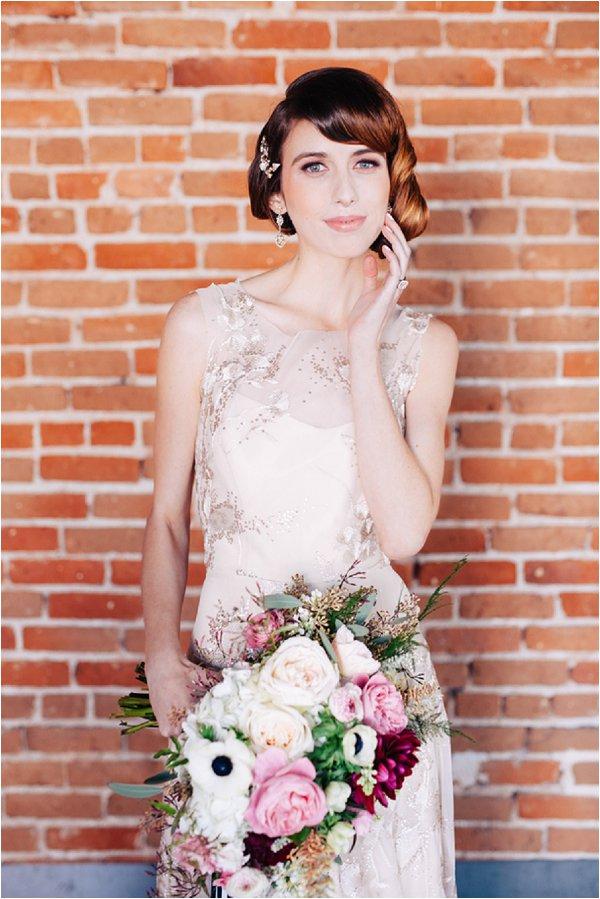 rich coloured bridal bouquet