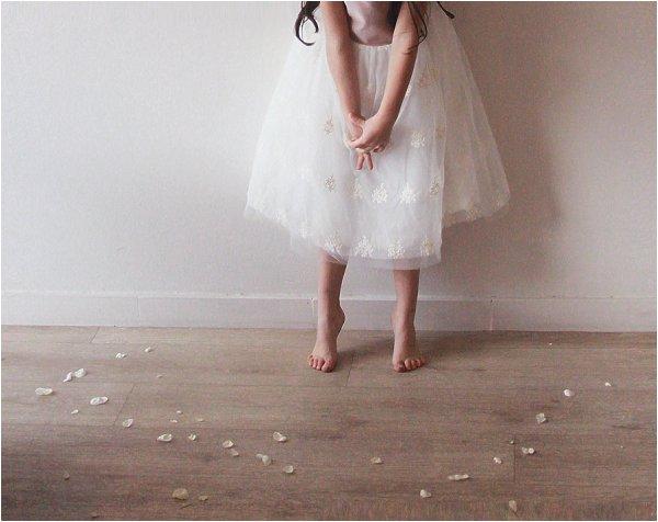 tulle flower girl skirt