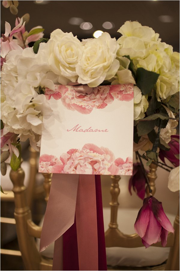 wedding chair cards