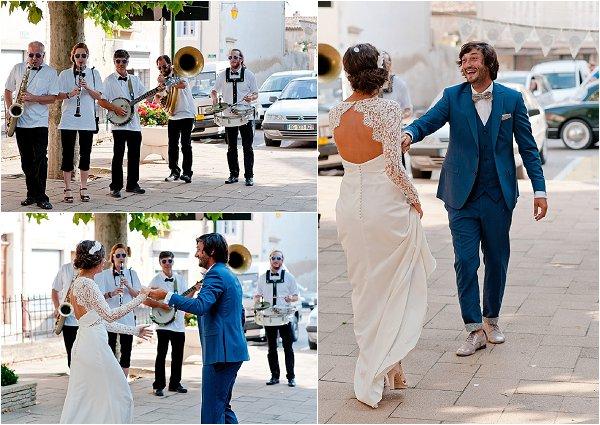 wedding dancing in the street